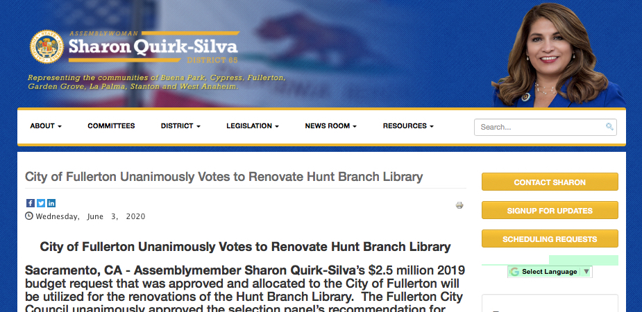 Quirk-Silva Hunt Press Release