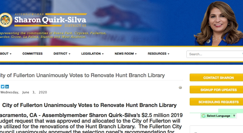 Quirk-Silva Celebrates City Council Vote on Hunt Library